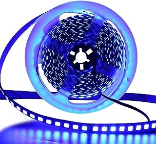 XUNATA 16.4ft LED Flexible Light Strip, 600 Units SMD 5054 LEDs(5050 Upgraded), 12V DC Waterproof IP67 Light Strips, LED Ribbon, DIY Christmas Home Kitchen Indoor Party Decoration (Blue)