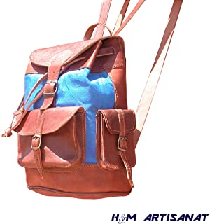 leather backpack handmade genuine cow leather vintage & artisanal. summer and all seasons Rucksack, life style college and...