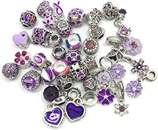 YIQIFLY 40pcs Jewelry Making Charms Rhinesotone Beads Assorted Colors and Styles Randomly (08)