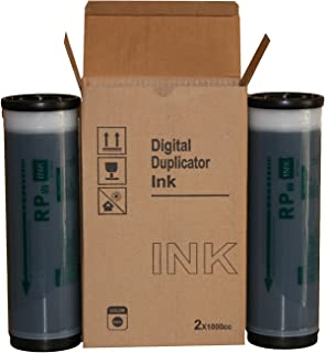 2 Wholesale Widgets Brand Compatible with Riso S-4202 Black Ink Tubes, for use with Risograph FR2950, FR3910, FR3950, RP 3100, RP3105, RP3500, RP3505 Duplicators