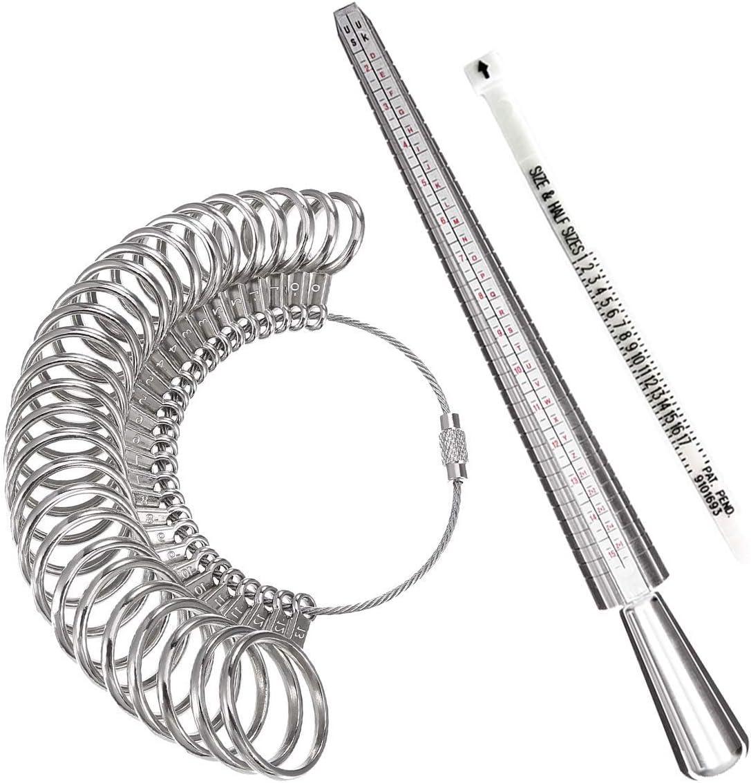 Meowoo Ring Sizer Measuring Tool Aluminum Sale Finge and Mandrel Washington Mall