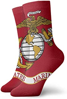 BNFHHK Flag of The United States Marine Corps Adult Short Socks Cotton Fun Socks for Mens Womens Yoga Hiking Cycling Running Soccer Sports