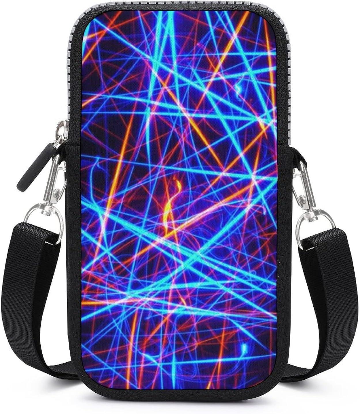 SWEET TANG Neon Lights Phone Riding Multipurpose Handbag - Passport, Credit Card Adjustable Shoulder Strap, Holder Wristlet Convertible Cross Body Bag
