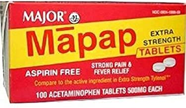 Mapap Extra Strength Tablets, 500mg, 100ct (2 PACK)