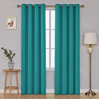 Deconovo Thermal Insulated Blackout Curtains Room Darkening Curtains Grommet Curtains