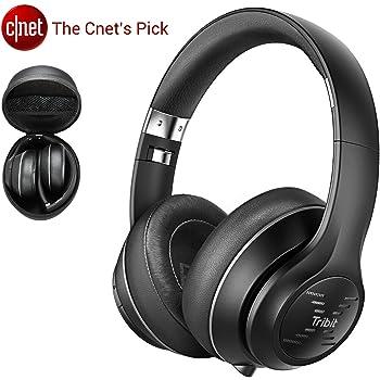 Bluetooth Kopfhörer Over-Ear, Tribit XFree Tune Bluetooth-Kopfhörer,Kabellose Kopfhörer mit 40 Stunden Spielzeit, Hi-Fi Stereo Sound und CVC6.0 Noise Canceling Mikrofon, inkl. Aufbewahrungsbox