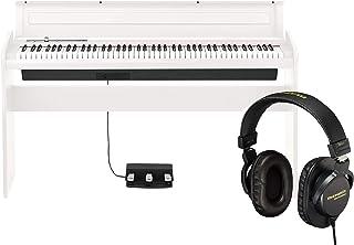 KORG 電子ピアノ LP-180-WH 88鍵 ホワイト ペダル、譜面立て付属 アコースティック・ピアノタッチを再現したNH鍵盤 &ヘッドホンセット
