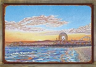 Northwest Art Mall Santa Monica Pier Rustic Metal Print on Reclaimed Barn Wood by David Linton (24