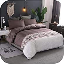 Simple Luxury King Size Bedding Set Floral Printed Duvet Cover Sets Bed Linen Quilt Covers Single Queen Bedclothes(No Bed ...