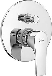 GS SLIM Concealed Single Lever Bath-Shower Mixer with Push-button diverter - CHROME