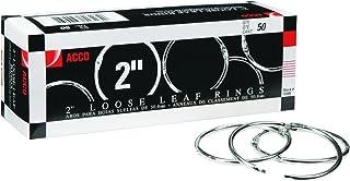 """Metal Book Rings, 2"""" Diameter, 50 Rings/Box"""