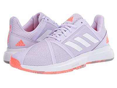 adidas CourtJam Bounce (Signal Coral/Purple Tint/Tech Purple) Women