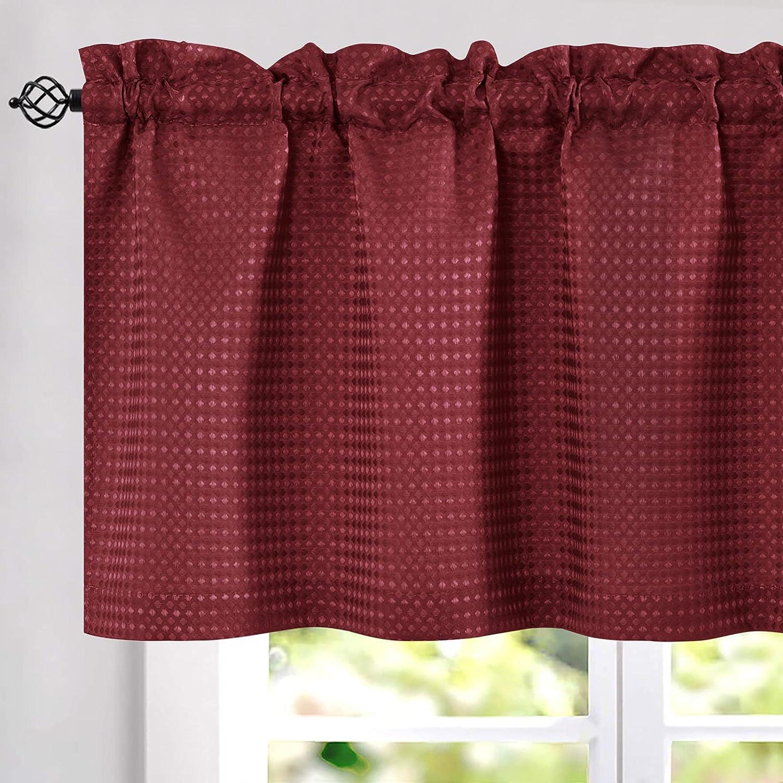 JINCHAN Superior Kitchen Curtains Waffle-Weave Bathro for Valance Phoenix Mall