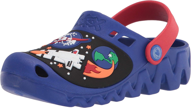 売れ筋 Skechers トラスト Boy's Foamies Zaggle-Nebuloid Red Clog Blue