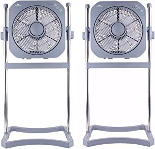 """Air Innovations 12"""" Swirl Cool Fan w/Cord Wrap in Platinum (2 Pack)"""