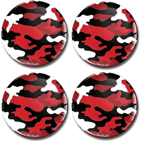 Biomar Labs 4 X 65mm Aufkleber 3d Silikon Camouflage Rot Für Radkappen Nabenkappen Radnabendeckel Rad Aufkleber Nabendeckel A 1965 Küche Haushalt