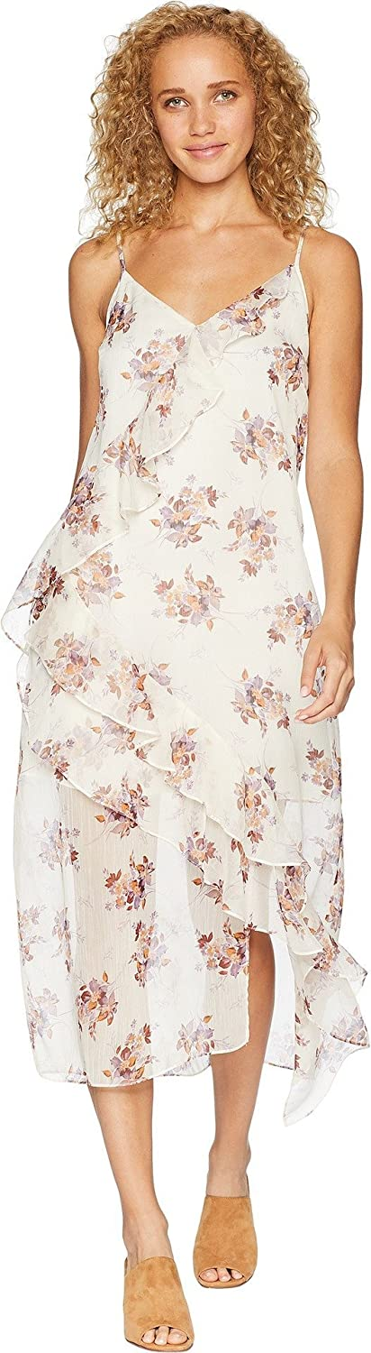 1.STATE Womens Wildflower Ruffled Slip Dress