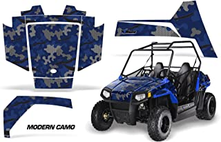AMRRACING Polaris RZR 170 Youth All Years Full Custom UTV Graphics Decal Kit - Modern Camo Blue