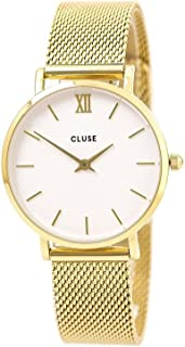 Cluse Women's Minuit Mesh 33mm Steel Bracelet Metal Case Quartz Dial Analog Watches Collection