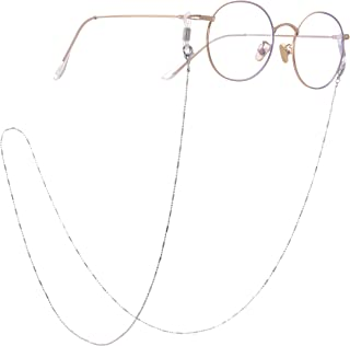 LIKGREAT 3 Colors Eyeglass Chains for Women Beaded Reading Glasses Cords Sunglasses Strap
