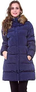 Women's Winter Long Thicken Puffer Coat Outerwear Cotton Parkas Outdoor Jacket with Fur Trim Removable Hood
