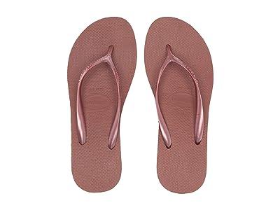 Havaianas High Fashion Flip Flops (Bronze Nude) Women