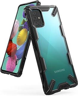 جراب Ringke Fusion-X متوافق مع Galaxy A51، جراب شفاف صلب من مادة البولي يوريثان اللدن بالحرارة ممتص للصدمات لهاتف Galaxy A...