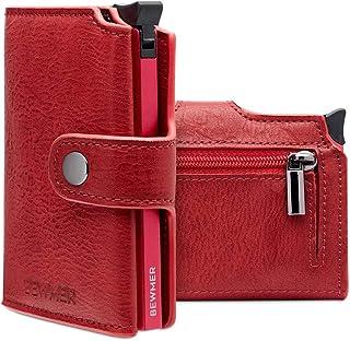 Porta Carte Credito Slim BEWMER II - Portafoglio e Portacarte Di Credito Da Uomo e Donna - Protezione Rfid Schermato Antic...
