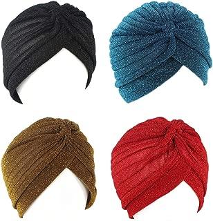Jupitson Women's Pleated Head Wrap Knit Bonnet Turban