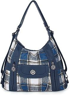 Damen-Handtaschen, Schultertaschen, gewaschenes Leder, Handtasche, A-0118-5g#34/6802#12-blau/J.blue, Large