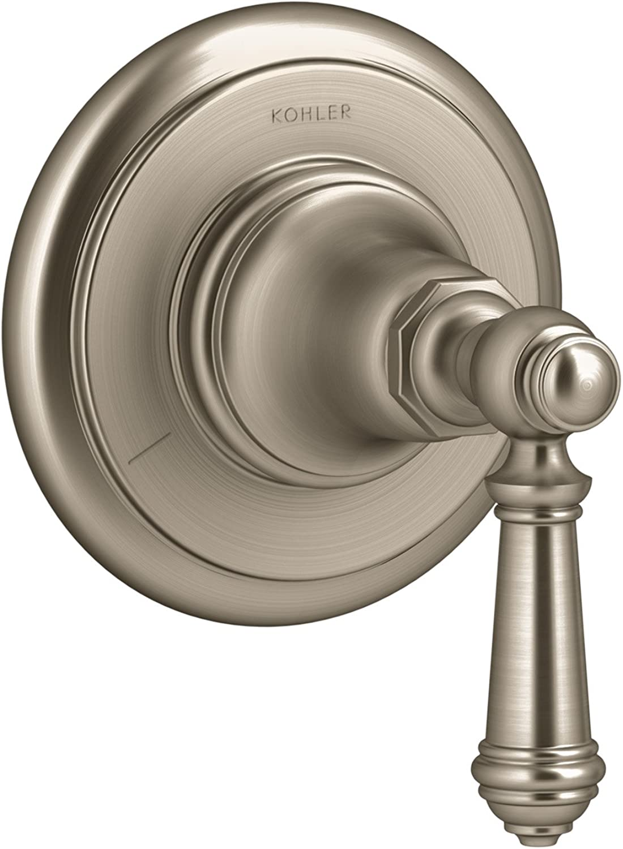 Kohler T72770-4-Bv Artifacts Transfer Valve Trim With Lever Handle, Less Valve, Vibrant Brushed Bronze