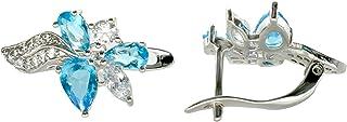J&M Rose Silver Earrings for Women