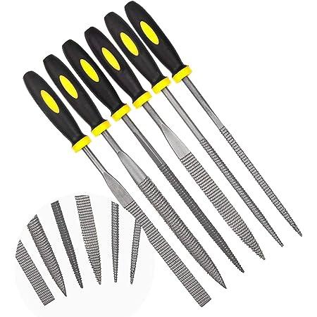 エプダ店 木工用ヤスリ 針やすりセット ホビーメイツ DIY研磨用ツール 6本組セット (3mmx140mm)