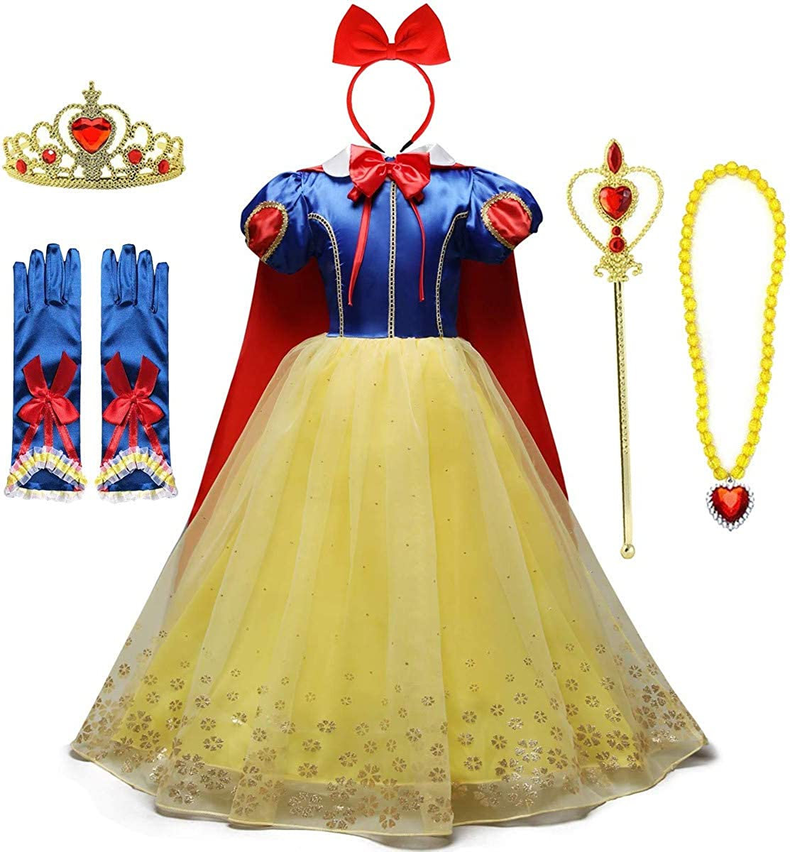 IZKIZF Girls Snow White Princess Halloween Chri Inexpensive Birthday Costume Spring new work one after another