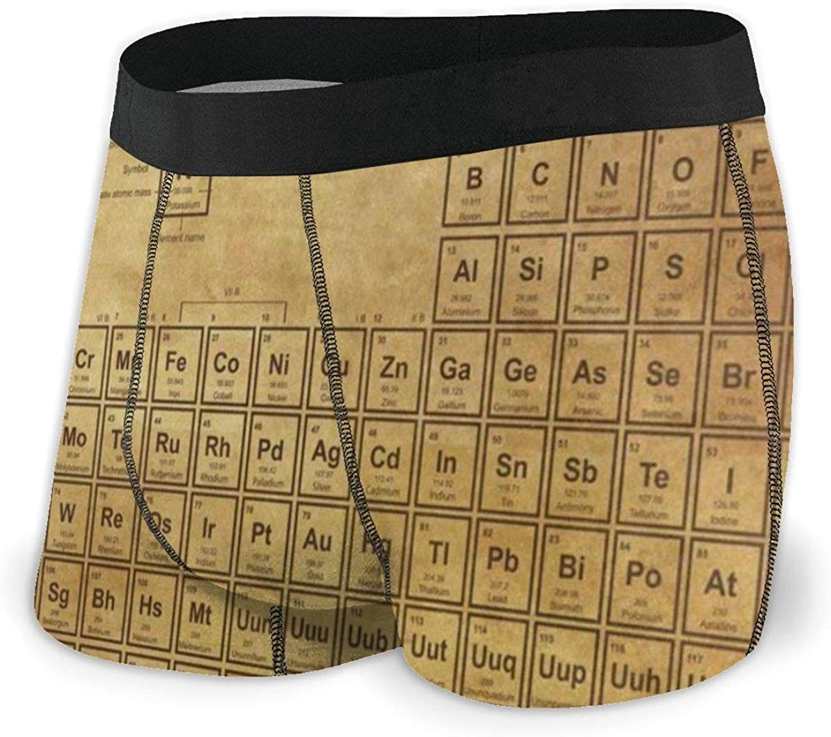 Mens Boxer Briefs Vintage Periodic Table Chemistry Breathable Underwear