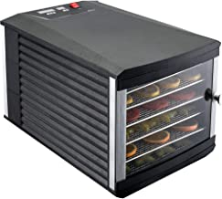 JAYETEC Food Dehydrators, 6 Trays staniless steel trays with digital adjustable,temperature and timer controlling, vegetable, fruit, jerky,beef, herb dehydrator, yogurt maker, double over heat protection, transparent door &black, including 2pcs non-stick sheets (6 Trays)