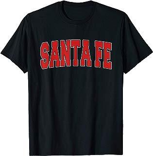 SANTA FE TX TEXAS Varsity Style USA Vintage Sports T-Shirt