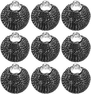 HealLILY 24 peças de bolas de pompom, pingentes de pompom, acessórios de artesanato para brincos, colares, pulseiras, chav...
