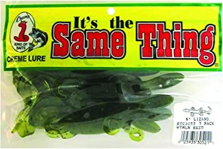 Creme STC3052 6-Inch Lizard Soft Bait Fishing Lure, 7-Lures, Watermelon Seed Finish
