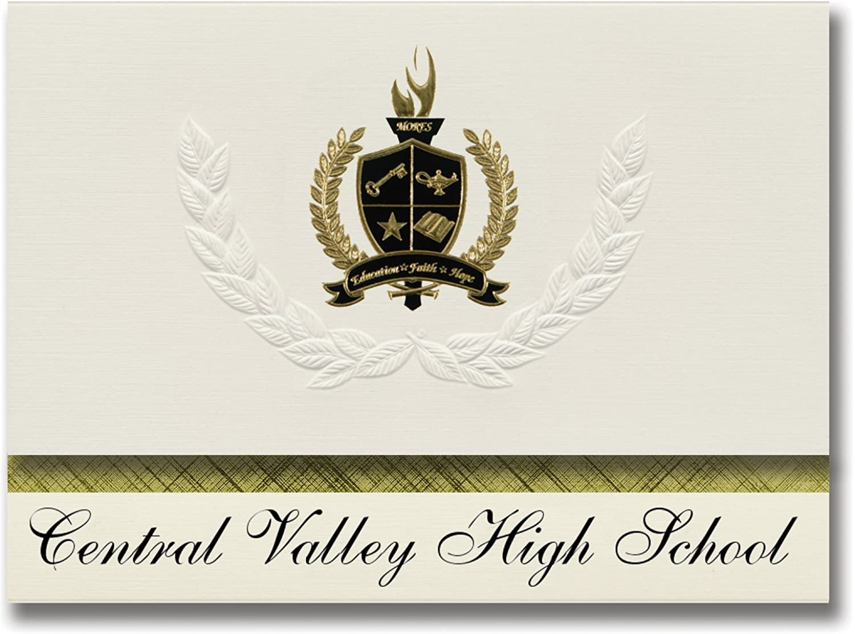 Signature Announcements Central Valley High School (Shasta Lake, CA) CA) CA) Abschlussankündigungen, Präsidential-Stil, Grundpaket mit 25 Goldfarbenen und schwarzen metallischen Folienversiegelungen B0795XF7BH | Billiger als der Preis  99ad26