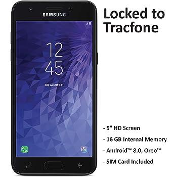 Tracfone - Smartphone de prepago para Samsung Galaxy J3 Orbit 4G LTE, 16 GB, tarjeta SIM incluida, color negro