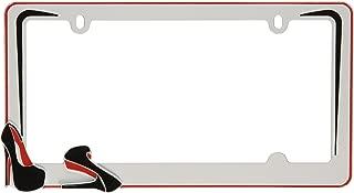 Cruiser Accessories White 22001 Stiletto License Plate Frame, Black