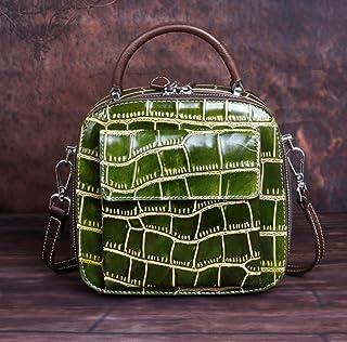 LIMING Genuine leather ladies handbag messenger bag crocodile pattern flap female new messenger shoulder bag small bag