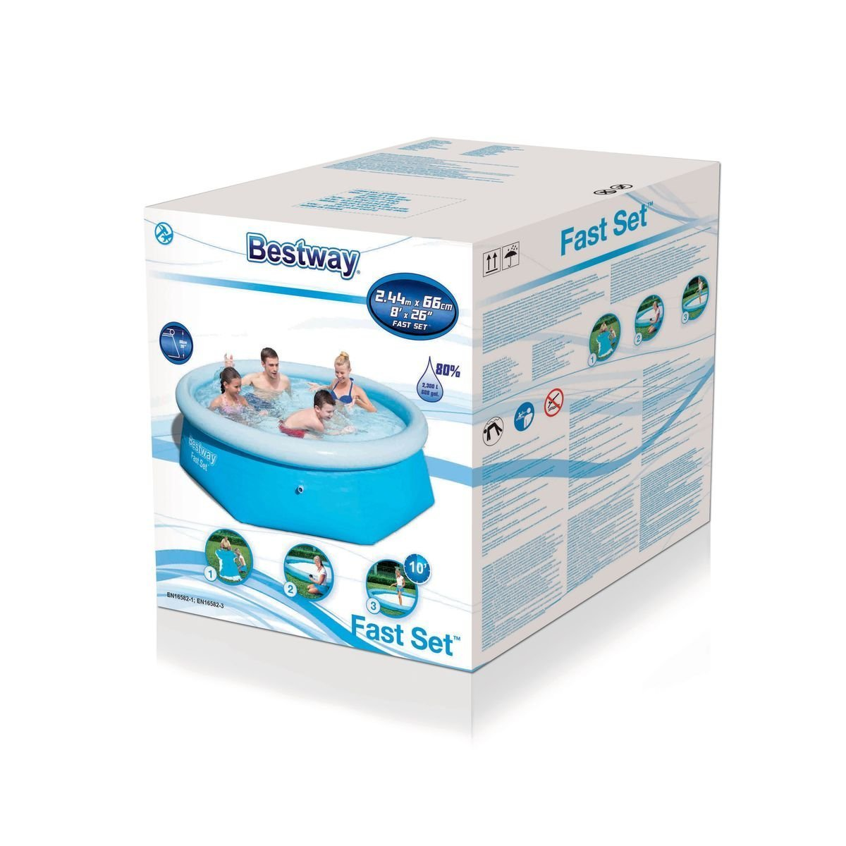 Piscina Desmontable Autoportante Bestway Fast Set 244x66 cm ...