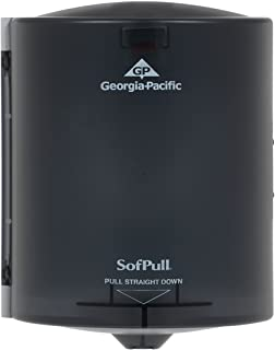 "SofPull Centerpull Regular Capacity Paper Towel Dispenser by GP PRO (Georgia-Pacific), Translucent Smoke, 58204, 9.250"" W x 8.750"" D x 11.500"" H"
