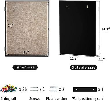 NPPLUS 11x14 Shadow Box Frame,Clear Acrylic Shadowbox Display Case for Dried Flower,Magazine,Pet Memorabilia,Baby Keepsakes a