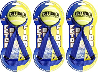 PetSport Fetch Me Fido Ball Dog Toy, 10 Inch, with Slobber Stop Handle, Assorted Colors (3 Pack)