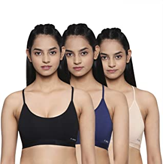 Longies Women's Compression Sports Bra (Pack of 3)