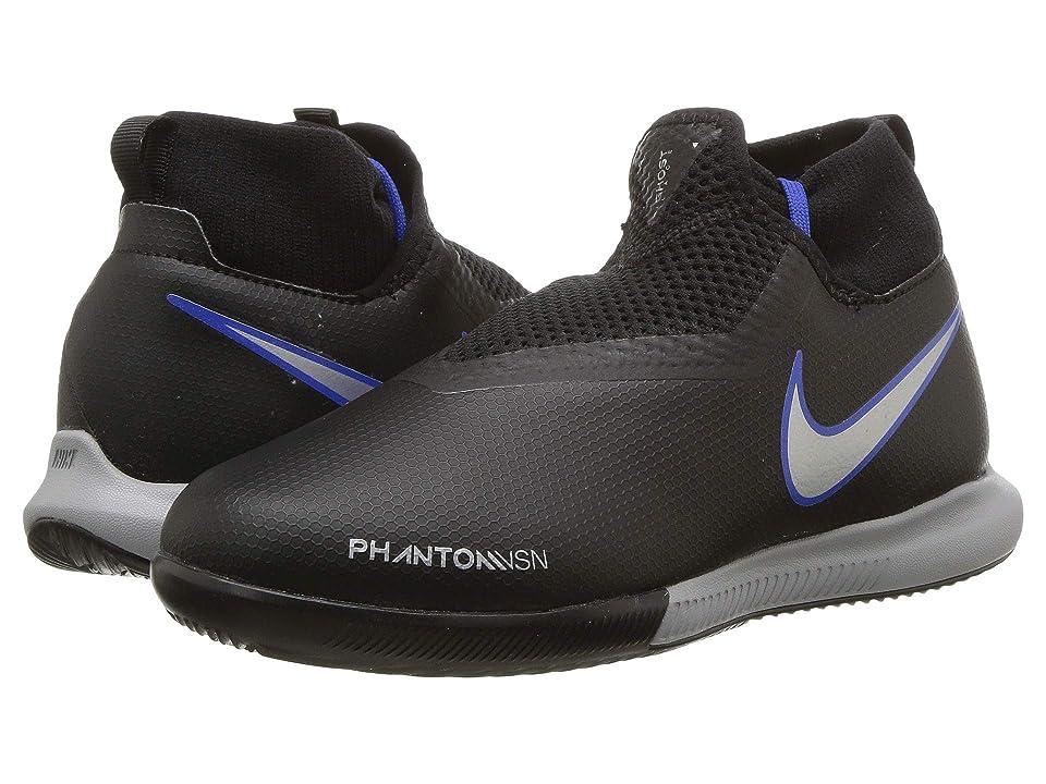Nike Kids JR Phantom Vision Academy DF IC Soccer (Little Kid/Big Kid) (Black/Metallic Silver/Racer Blue) Kids Shoes