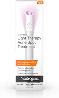 Neutrogena Light Therapy Acne Spot Treatment, Chemical & UV-Free with Clinically Proven Blue & Red Acne Light Technology, Gentle Acne Spot Treatment for Sensitive Skin, 1 ct